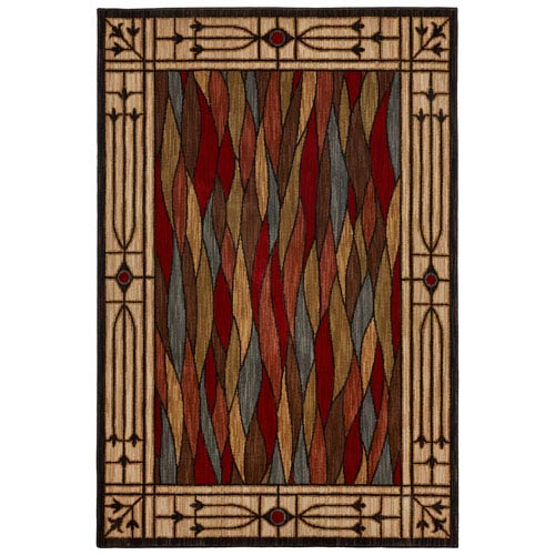Heritage Bethel Glass Multicolor Rectangular: 5 Ft. 3 In. x 7 Ft. 10 In. Rug