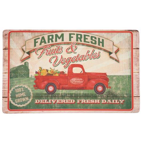 Vegetable Trucks Rectangular: 1 Ft. 6-Inch x 2 Ft. 6-Inch Rug