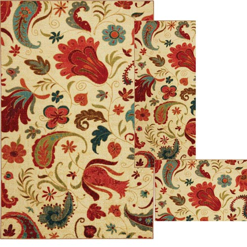 Mohawk Home Tropical Acres Beige Three-Piece Set