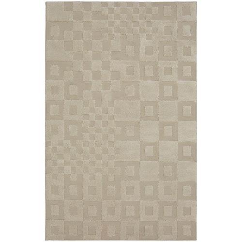 Tile Time Cream Rectangular: 5 Ft. x 8 Ft. Rug