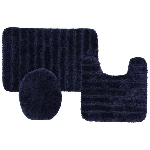 Mohawk Home Navy Rectangular: 1 Ft. 8 In. x 2 Ft. 6 In. Bath Rug