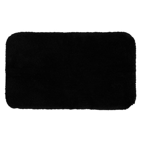 Mohawk Home Black Rectangular: 1 Ft. 8 In. x 2 Ft. 10 In. Bath Rug