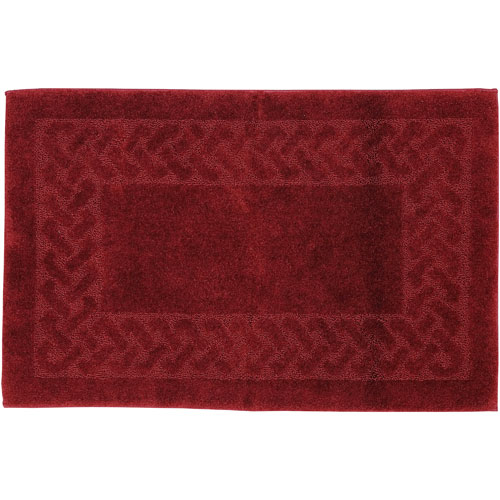Mohawk Home Sculptures Cranberry Rectangular: 2 Ft. 6 In. x 3 Ft. 10 In. Bath Rug