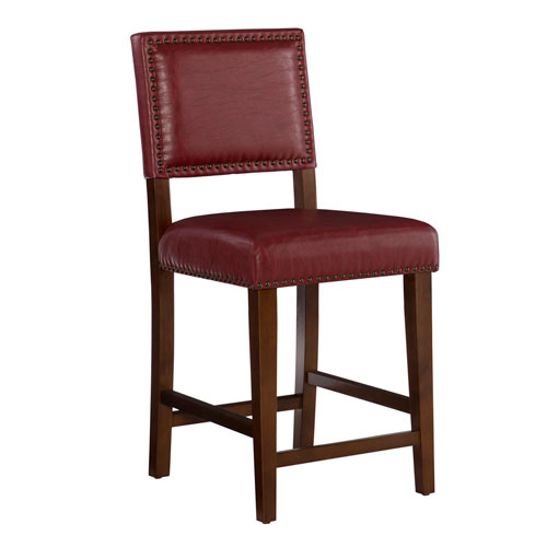 Brook Red 24-Inch Counter Stool