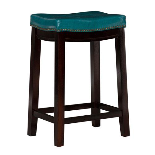 Claridge Blue 24-Inch Counter Stool