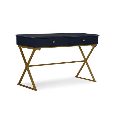 Luke Blue and Gold Desk