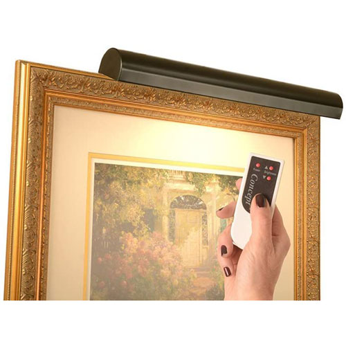 Matte Black 18-Inch Cordless LED Remote Control Picture Light