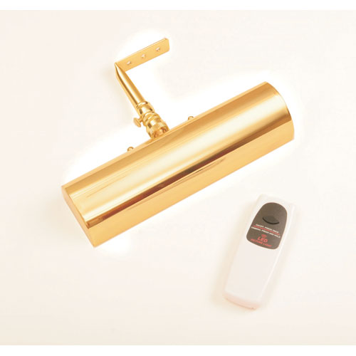 Slimline Polished Brass 8 Inch Cordless LED Remote Control Picture Light