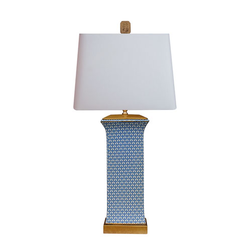 Porcelain Blue and White 28-Inch One-Light Table Lamp