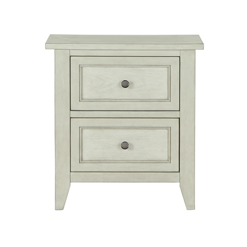 Magnussen Home Raelynn 2 Drawer Nightstand in Weathered White