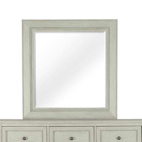 Raelynn Portrait Concave Framed Mirror in Weathered White