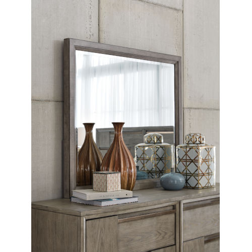 Atelier Nouveau Grey And Palladium Wood Landscape Mirror