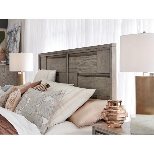 Atelier Nouveau Grey And Palladium Queen Panel Bed Headboard