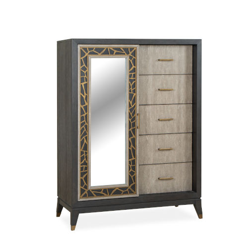 Ryker Nocturn Black and Coventry Gray Door Chest