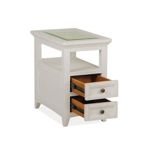 Heron Cove Chalk White Chairside End Table