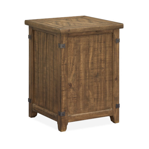 Chesterfield Timber And Forged Iron 19-Inch End Table