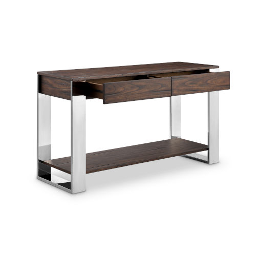 Duvall Chadwick Mocha And Stainless Steel Sofa Table
