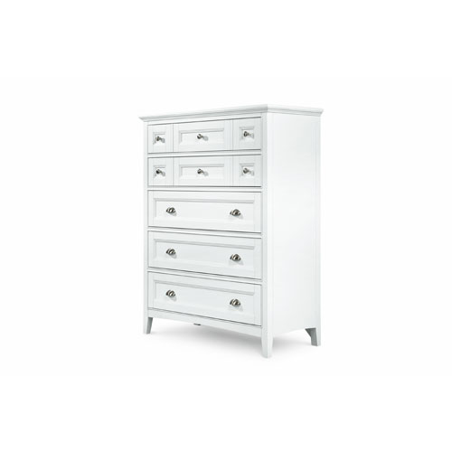 Kentwood White Five Drawer Chest