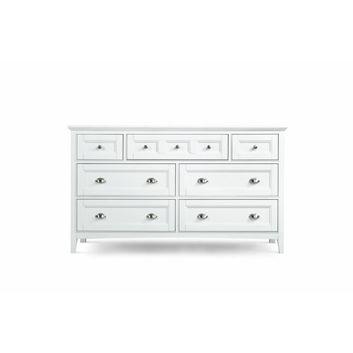 Kentwood White Seven-Drawer Double Dresser