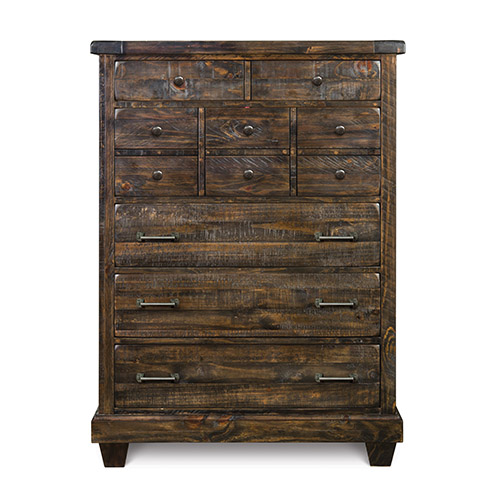 Magnussen Home Brenley Natural Umber Wood Five Drawer Chest