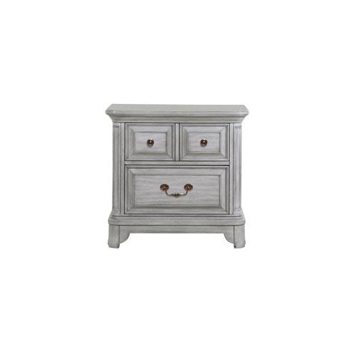 Magnussen Home Windsor Lane 2 Drawer Nightstand in Weathered Grey