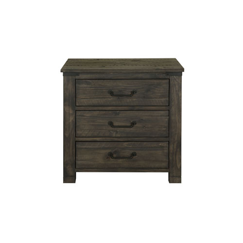 Magnussen Home Abington 3 Drawer Nightstand in Weathered Charcoal
