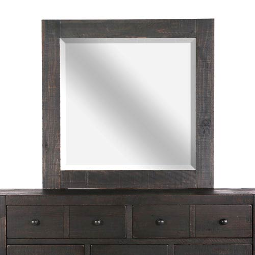 Magnussen Home Easton Landscape Mirror in Dark Chocolate