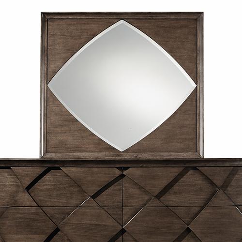 Magnussen Home Meridian Landscape Mirror in Amaretto Brown