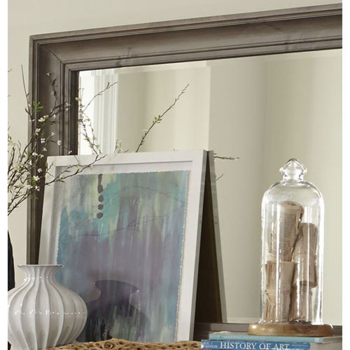Lancaster Landscape Mirror in Dovetail Grey
