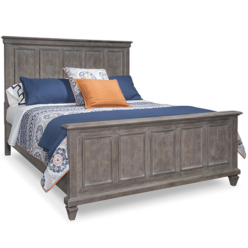 Lancaster Complete King Panel Bed in Dovetail Grey