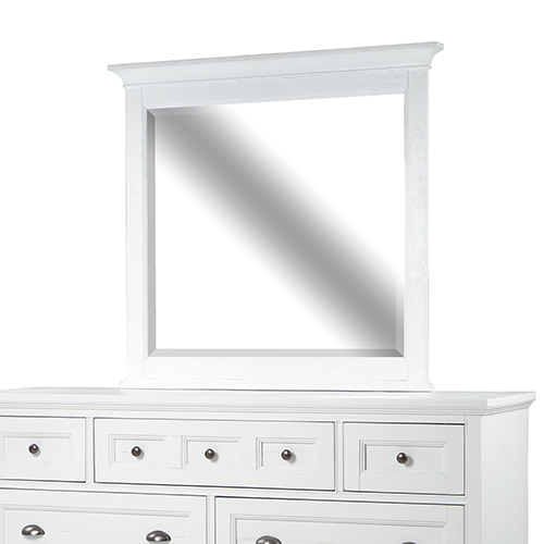 Heron Cove Relaxed Traditional Soft White Landscape Mirror