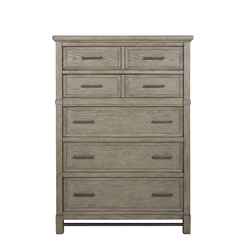 Magnussen Home Leyton Park Transitional 5 Drawer Chest in Weathered Sand
