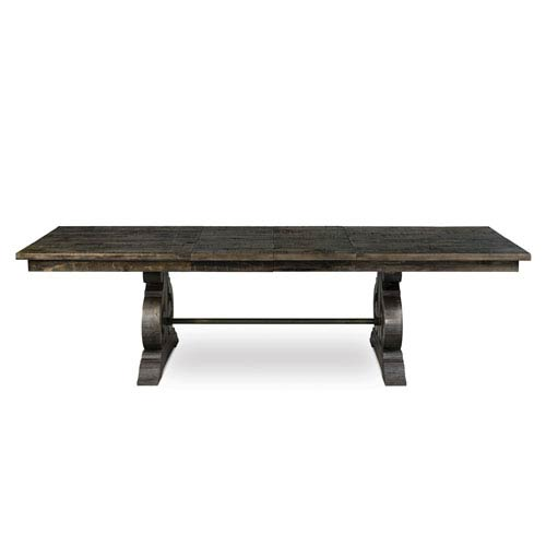 Magnussen Home Bellamy Deep Weathered Pine Wood Rectangular Dining Table