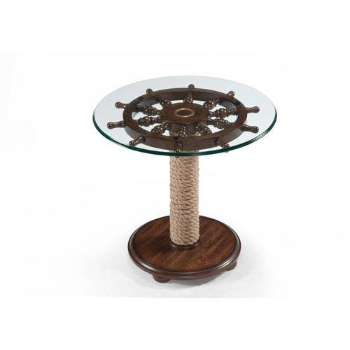 Magnussen Home Beaufort Dark Oak Round Accent Table