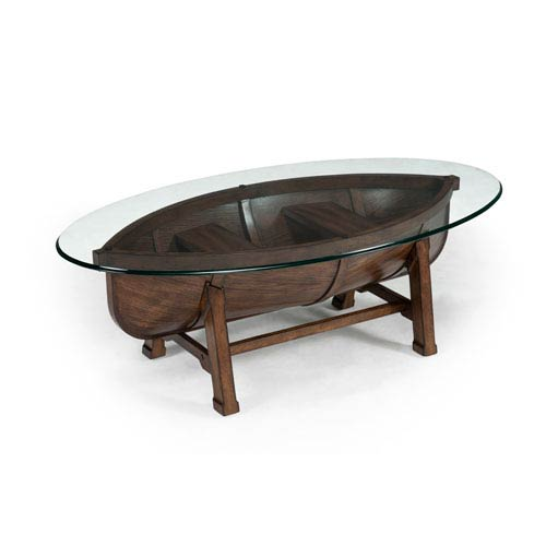 Magnussen Home Beaufort Dark Oak Oval Cocktail Table