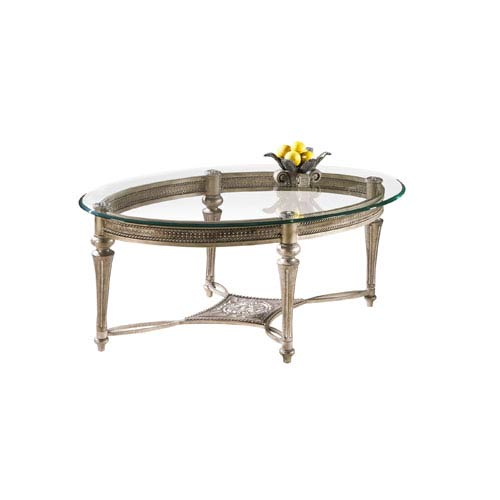 Galloway Glass Oval Cocktail Table w/ Glass Top