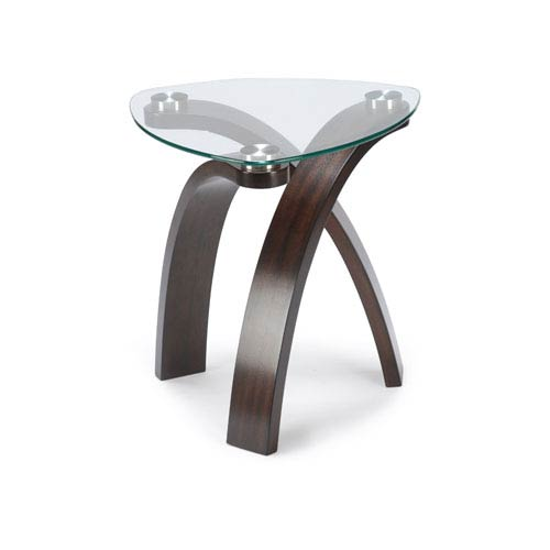 Magnussen Home Allure Glass and Glass Oval End Table