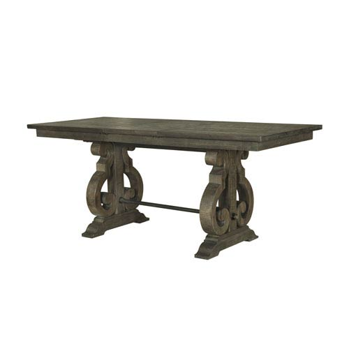 Bellamy Rectangular Counter Height Table in Weathered Pine