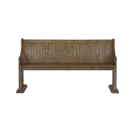 Magnussen Home Willoughby Wood Bench in Weathered Barley