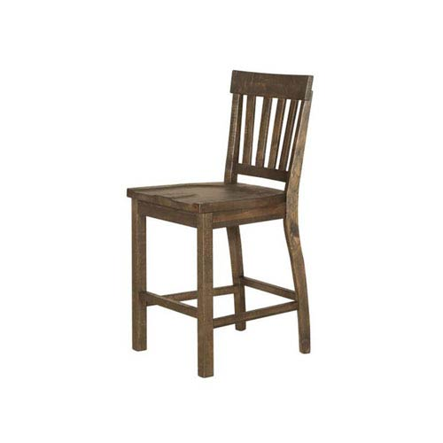 Magnussen Home Willoughby Counter Stool in Weathered Barley