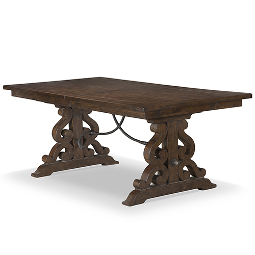 Magnussen Home St. Claire Rectangular Dining Table In Rustic Pine