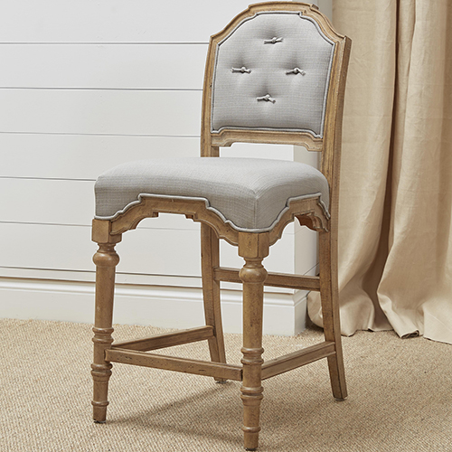 Graham Hills Upholstered Counter Stool in Cracked Wheat