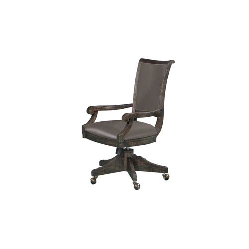 Magnussen Home Sutton Place Swivel Chair in Weathered Charcoal