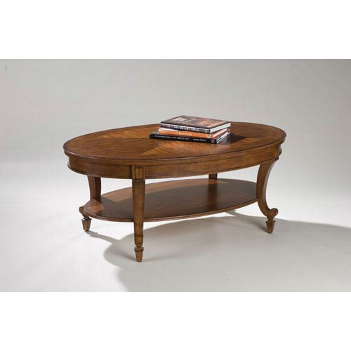 Magnussen Home Aidan Cinnamon Oval Cocktail Table