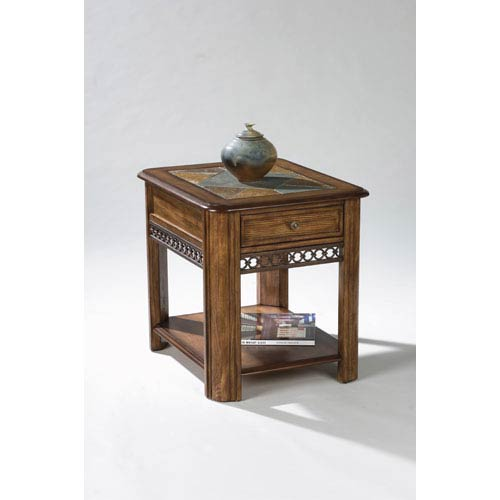 Madison Warm Nutmeg Rectangular Drawer End Table