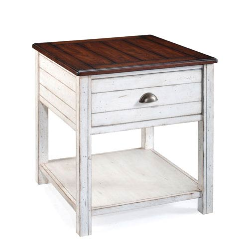 Magnussen Home Bellhaven Alabaster Rectangular End Table