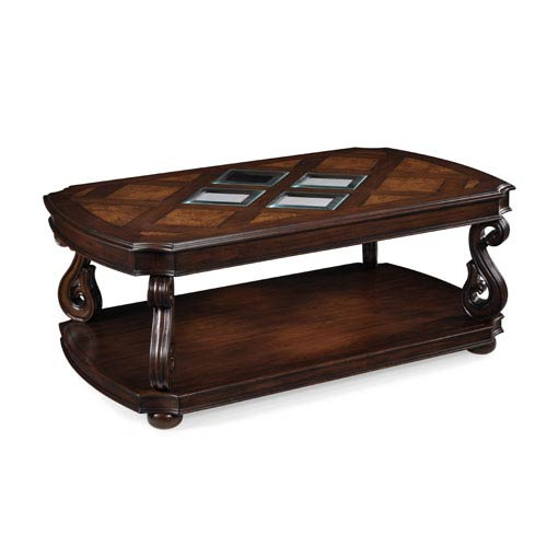 Harcourt Cherry Rectangular Cocktail Table, w/ casters