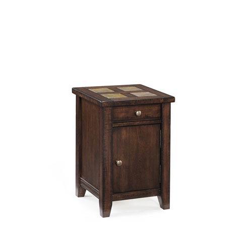 Magnussen Home Allister Cinnamon Square Accent Table