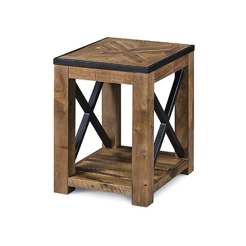 Magnussen Home Penderton Natural Sienna Wood Chairside End Table