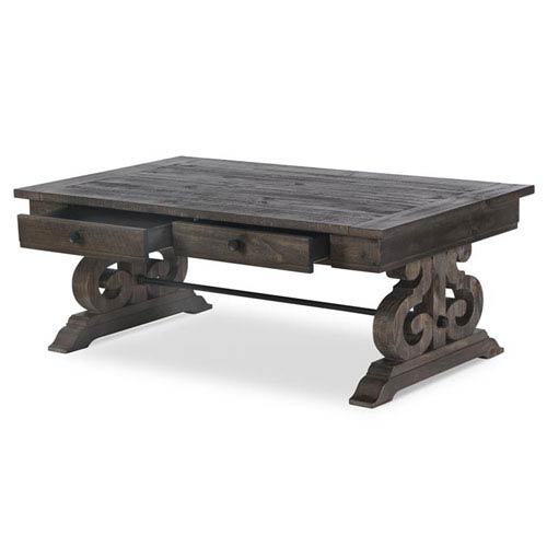 Bellamy Rectangular Cocktail Table in Weathered Pine